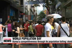 Korea's competitiveness through its population falling: study