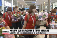 Women's Junior handball return with gold