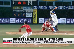 First double-header All-Star Game due to rain