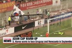 S. Korea pushing for friendlies against Uruguay and Venezuela in September