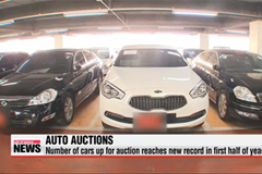 Number of cars up for auction hits record in first half