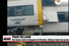 Two trains collide in Gangwon Province, Korea