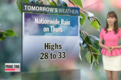 Showers in most regions on Thursday