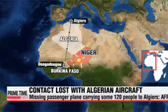 Contact lost with Algerian plane with 119 passengers