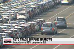Trade surplus for Korea's automobiles narrows in Q2