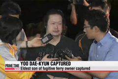 Eldest son of fugitive ferry owner Yoo Byung-eun arrested