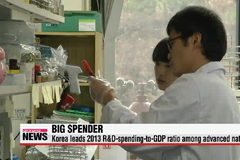Korea tops OECD's R&D-spending-to-GDP ratio