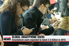 Global smartphone users expected to reach 2.5 billion in 2015