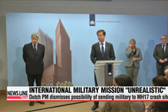 Dutch PM rules out military mission in eastern Ukraine