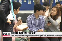Korea will continue leading mobile internet usage in Asia Pacific region until 2018 - report