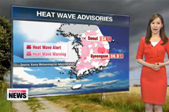 Heat wave advisories issued, showers forecast for Friday