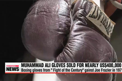 Muhammad Ali boxing gloves sold for US$400K