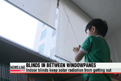 Blinds between windowpanes can help lower indoor summer temps