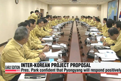 President Park anticipates Pyongyang to respond positively to joint project proposal