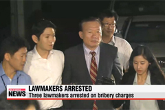 Three lawmakers arrested on bribery charges