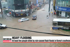 Five people killed by rain-caused flash floods in southeastern area