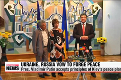 Ukrainian, Russian leaders vow to secure peace at summit