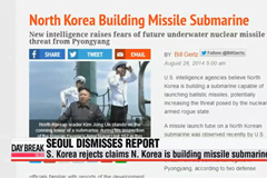 S. Korea's defense ministry rejects claims that N. Korea is building missile submarine