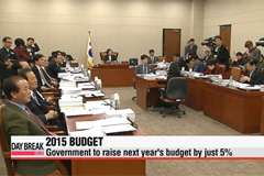Government's 2015 budget increase to be smaller than expected: Lawmaker