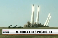 N. Korea fires another short-range projectile into East Sea
