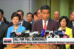 Hong Kong citizens protest decision out of Beijing over chief executive election