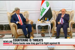 U.S. Secretary of State Kerry backs new Iraqi government for its fight against IS militants