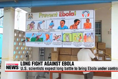 U.S. scientists expect long battle against Ebola
