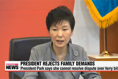 President Park says she can't resolve dispute over ferry probe authority