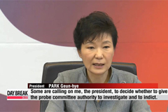 President Park puts foot down on ferry probe bill