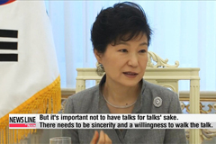 President Park says she's open to talks with North Korea: Reuters