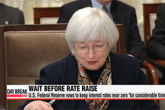 U.S. Federal Reserve vows to keep interest rates near zero 'for considerable time'