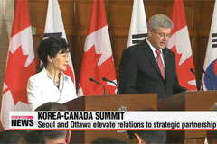 Korea, Canada sign FTA, establish strategic partnership