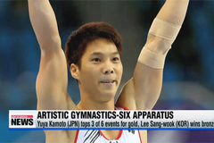 Japan takes gold and silver, and S. Korea gold in men's artistic gymnastics