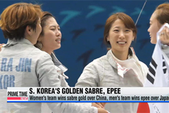 S. Korea earns two fencing team golds