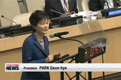 President Park calls on international community to face up to climate change