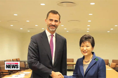 President Park meets world leaders at UN
