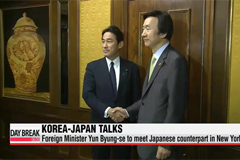 Foreign ministers of Korea, Japan to meet in New York