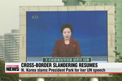 N. Korea slams S. Korean leader for her UN speech