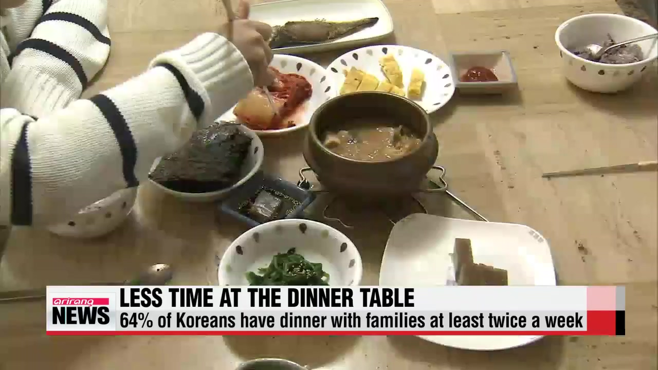 Fewer Korean families have dinner together