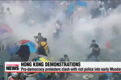 Hong Kong protesters clash with police over democractic freedoms