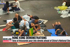 Record crowd expected for Hong Kong protests on National Day