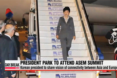 President Park arrives in Italy for 4-day visit