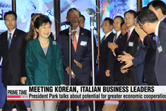 President Park asks Italian family-owned businesses to share know-how with Korean SMEs