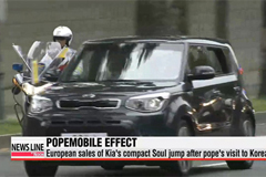 European sales of Kia's compact Soul jump after pope's visit to Korea