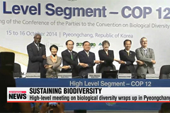 High-level meeting on biodiversity wraps up with adoption of 'Gangwon Declaration'