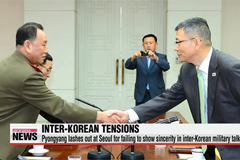 Pyongyang lashes out at Seoul for failing to show sincerity in inter-Korean military talks