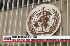 WHO says it will share its Ebola response after the crisis is under control