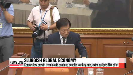 BOK governor worries about slowing growth of global economy