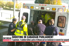 Shooting in Canada's parliament building leaves 1 shooter, 1 soldier dead