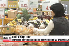 Korean economy grows 0.9% on-quarter in Q3